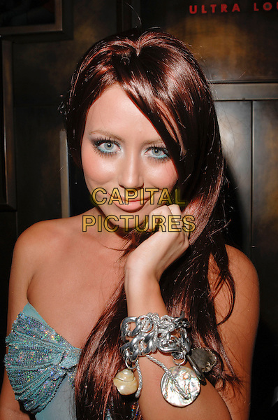 AUBREY O'DAY.Aubrey O'Day hosts a night of haunted seduction on Halloween night at Tabu Ultra Lounge inside the MGM Grand, Las Vegas, Nevada, USA, 31 October 2008..portrait headshot brunette wig hand bracelet  .CAP/ADM/LR.©Lee Roth/Roth Stock/Admedia/Capital Pictures