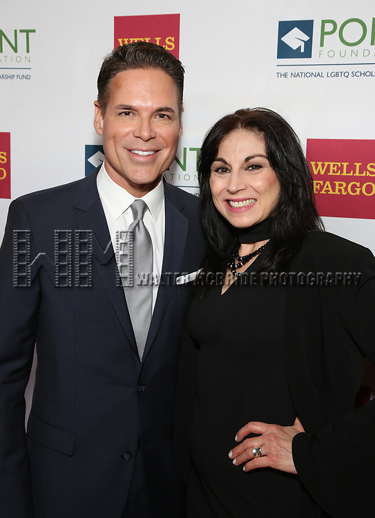 Jorge Valencia and Valerie Smaldone attends the Point Foundation hosts Annual Point Honors New York Gala Celebrating The Accomplishments Of LGBTQ Students at The Plaza Hotel on April 9, 2018 in New York City.