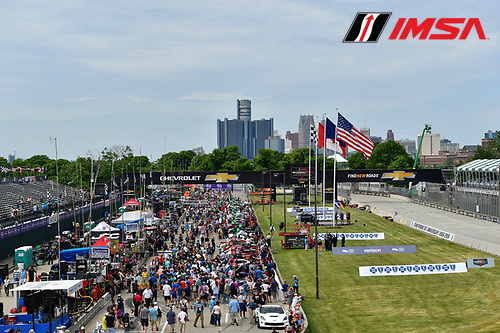 3-4 June, 2016, Detroit, Michigan USA<br /> Pre Race Grid Walk<br /> &copy;2016, Richard Dole<br /> LAT Photo USA