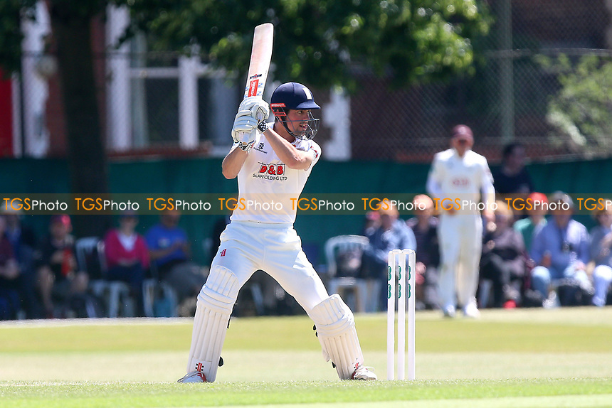 Alastair Cook hits four runs for Essex during Surrey CCC vs Essex CCC, Specsavers County Championship Division 1 Cricket at Guildford CC, The Sports Ground on 10th June 2017