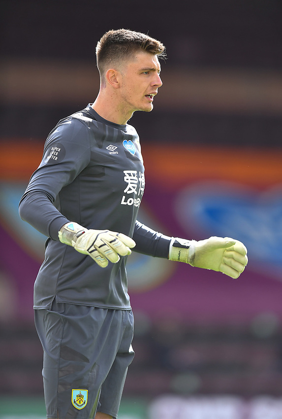 Burnley's Nick Pope<br /> <br /> Photographer Dave Howarth/CameraSport<br /> <br /> The Premier League - Burnley v Brighton & Hove Albion - Sunday 26th July 2020 - Turf Moor - Burnley<br /> <br /> World Copyright © 2020 CameraSport. All rights reserved. 43 Linden Ave. Countesthorpe. Leicester. England. LE8 5PG - Tel: +44 (0) 116 277 4147 - admin@camerasport.com - www.camerasport.com