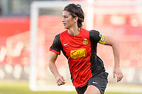 Bridgeview, IL, USA - Saturday, April 23, 2016: Western New York Flash defender Abby Erceg (6) during a regular season National Women's Soccer League match between the Chicago Red Stars and the Western New York Flash at Toyota Park. Chicago won 1-0.