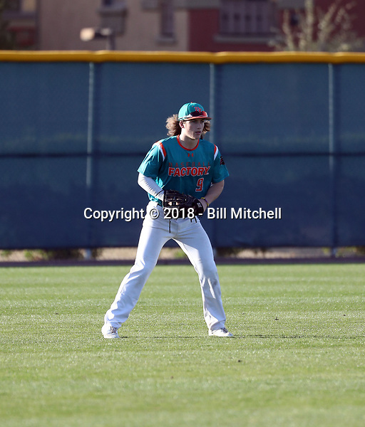 Dylan Crews takes part in the 2018 Under Armour Pre-Season All-America Tournament at the Chicago Cubs training complex on January 13-14, 2018 in Mesa, Arizona (Bill Mitchell)