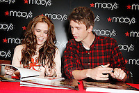 CHERRY HILL, NJ - JANUARY 22 :  Thomas Mann and Zoey Deutch of Beautiful Creatures at an in-store appearance at Macys Cherry Hill in Cherry Hill, New Jersey on January 22, 2013 © Star Shooter / MediaPunch Inc.