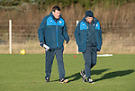St Johnstone Training&hellip;.27.12.16<br />Manager Tommy Wright pictured in training this morning at McDiarmid Park with Callum Davidson ahead of tomorrow&rsquo;s game against Rangers<br />Picture by Graeme Hart.<br />Copyright Perthshire Picture Agency<br />Tel: 01738 623350  Mobile: 07990 594431