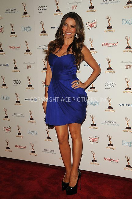 WWW.ACEPIXS.COM . . . . .  ....September 16 2011, LA....Sofia Vergara arriving at the 63rd Annual Emmy Awards Performers Nominee Reception held at Pacific Design Center on September 16, 2011 in West Hollywood, California. ....Please byline: PETER WEST - ACE PICTURES.... *** ***..Ace Pictures, Inc:  ..Philip Vaughan (212) 243-8787 or (646) 679 0430..e-mail: info@acepixs.com..web: http://www.acepixs.com