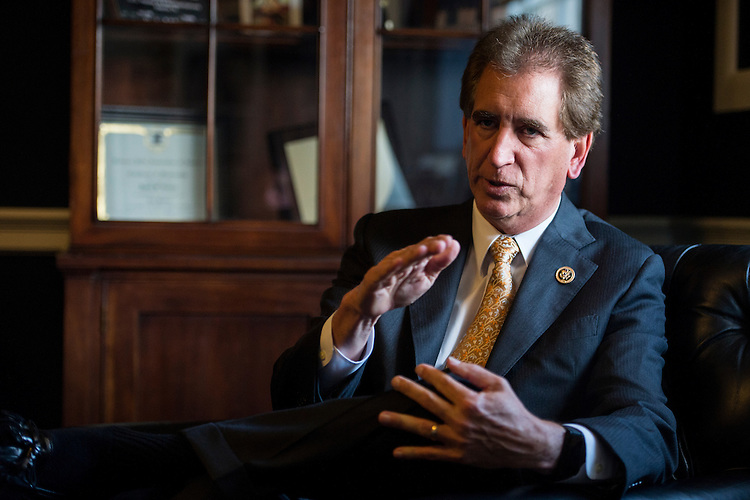 UNITED STATES - MAY 19: Rep. James Renacci, R-Ohio, speaks with Roll Call on Tuesday, May 19, 2015, about the Bipartisan Group he formed with Rep. John Carney, D-Del. (Photo By Bill Clark/CQ Roll Call)