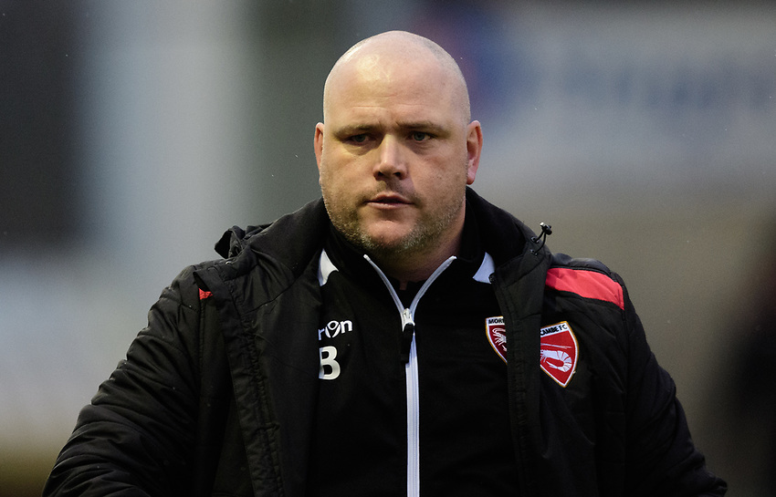 Morecambe manager Jim Bentley<br /> <br /> Photographer Chris Vaughan/CameraSport<br /> <br /> The EFL Sky Bet League Two - Saturday 15th December 2018 - Lincoln City v Morecambe - Sincil Bank - Lincoln<br /> <br /> World Copyright © 2018 CameraSport. All rights reserved. 43 Linden Ave. Countesthorpe. Leicester. England. LE8 5PG - Tel: +44 (0) 116 277 4147 - admin@camerasport.com - www.camerasport.com
