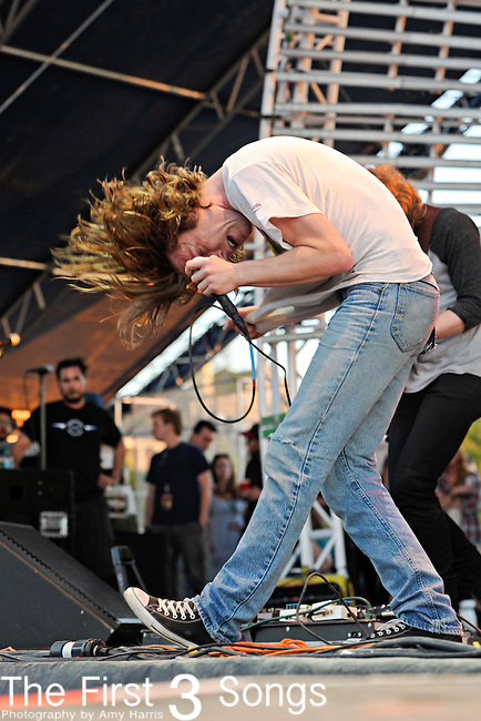 Matthew Shultz of Cage the Elephant performs during the Beale Street Music Festival in Memphis, TN on April 29, 2011.