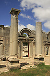 Israel, Upper Galilee. The remains of the ancient Sinagogue in Baram