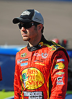 Apr 10, 2008; Avondale, AZ, USA; NASCAR Sprint Cup Series driver Martin Truex Jr during qualifying for the Subway Fresh Fit 500 at Phoenix International Raceway. Mandatory Credit: Mark J. Rebilas-