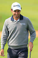 Edoardo Molinari (ITA) on the 9th green during Sunday's Final Round of the 2014 BMW Masters held at Lake Malaren, Shanghai, China. 2nd November 2014.<br /> Picture: Eoin Clarke www.golffile.ie