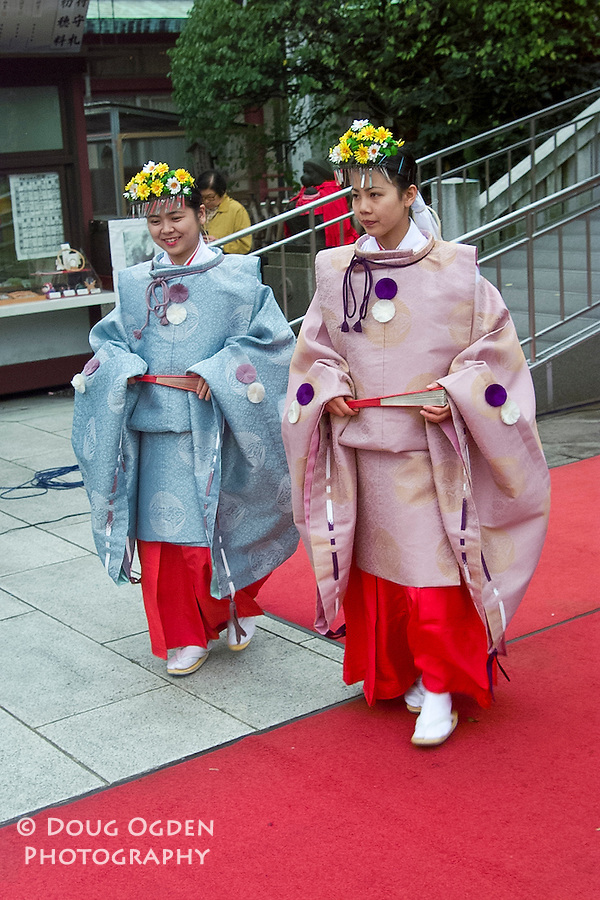Wedding party in traditional dress,  Tokyo, Japan