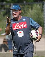 Napoli Calcio ritiro precampionato a Dimaro ( TN)  18 Luglio 2014<br /> nella foto   Rafael Benitez<br /> Napoli soccer pre season summer training in Dimaro