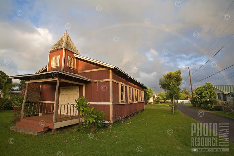 Historic church in Haleiwa, near Waialua town, North Shore of Oahu