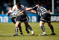 Photo: Richard Lane/Richard Lane Photography. Worcester Warriors v London Wasps. Guinness Premiership. 17/04/2010. Wasps' Sakaria Taulafo attacks.