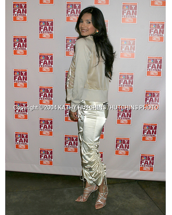 ©2004 KATHY HUTCHINS /HUTCHINS PHOTO.NBC & TELEMUDO STARS FAN FESTIVAL.UNIVERSAL CITYWALK.LOS ANGELES, CA.MARCH 21, 2004..PAOLA REY