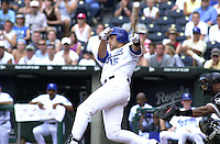 Royals DH Carlos Beltran tied the game up with a home run in the ninth inning against the Chicago White Sox at Kauffman Stadium in Kansas City, Missouri on July 18, 2002.  Kansas City won 5-3.