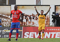 IPIALES - COLOMBIA, 25-09-2019: Adrian Arregui del Medellin celebra después de anotar el primer gol de su equipo durante partido por la semifinal ida como parte de la Copa Águila 2019 entre Deportivo Pasto e Independiente Medellín jugado en el estadio Estadio Municipal de Ipiales. / Adrian Arregui of Medellin celebrates after scoring the first goal of his team during match for the first leg semifinal as part of Aguila Cup 2019 between Deportivo Pasto and Independiente Medellin played at Municipal stadium of Ipiales.  Photo: VizzorImage / Leonardo Castro / Cont