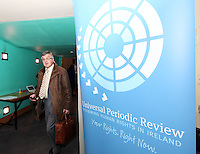 NO FEE PICTURES .15/3/12 The Your Rights Right Now campaign live streaming of Ireland's Universal Periodic Review live from Geneva, at Liberty Hall, Dublin. Picture:Arthur Carron/Collins