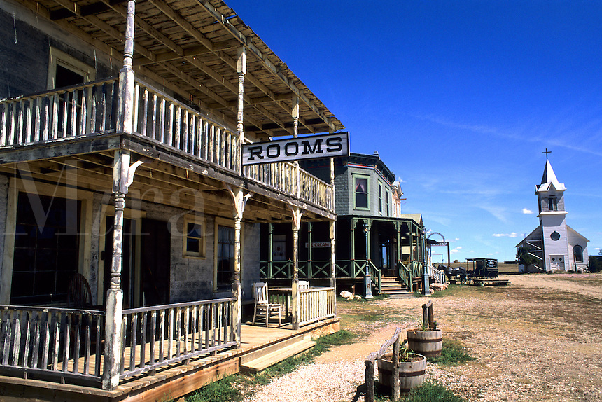 Scenic of old 1880s ghost town in Murdo South Dakota used in many movie