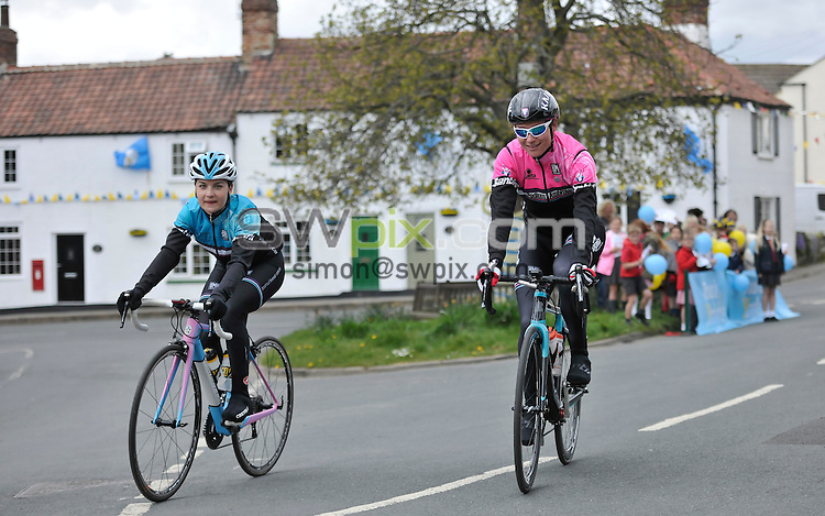 Picture by Simon Wilkinson/SWpix.com - 26/04/2016 - TDY Tour de Yorkshire 2016 Womens Race Recce - by Dame Sarah Storey<br /> Hilliam and South Milford<br /> copyright picture - Simon Wilkinson - simon@swpix.com