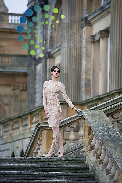 .Launch of the Scottish/Italian Fashion Show which will take place at Gosford House in East Lothian to raise money for charity, Longniddry, Scotland, 28th January, 2013. Pictured Model  Emily Shakarji..Picture:Scott Taylor Universal News And Sport (Europe) .All pictures must be credited to www.universalnewsandsport.com. (Office)0844 884 51 22.