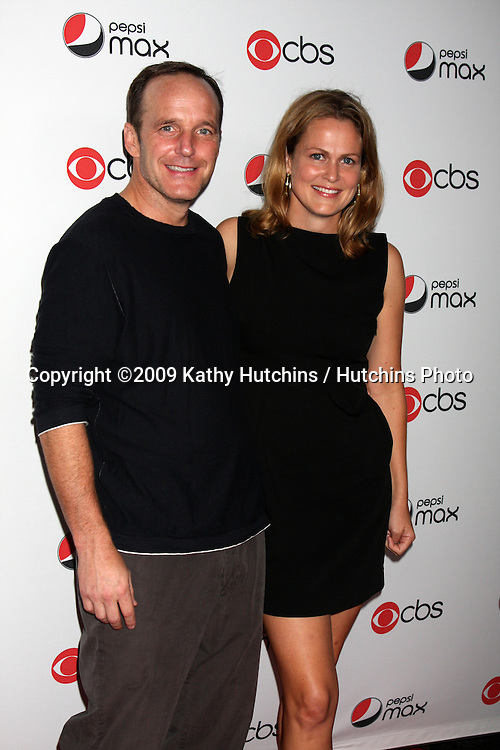 Clark Gregg & Emily Rutherfurd.arriving at the CBS Fall Preveiw Party.My House  Club.Los Angeles, CA.September 16, 2009.©2009 Kathy Hutchins / Hutchins Photo....