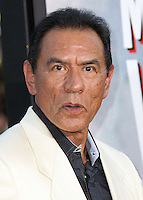 "WESTWOOD, LOS ANGELES, CA, USA - MAY 15: Wes Studi at the Los Angeles Premiere Of Universal Pictures And MRC's ""A Million Ways To Die In The West"" held at the Regency Village Theatre on May 15, 2014 in Westwood, Los Angeles, California, United States. (Photo by Xavier Collin/Celebrity Monitor)"