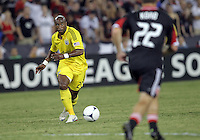 WASHINGTON, DC - AUGUST 4, 2012: Emilio Renteria (20)of the Columbus Crew during an MLS match against DC United at RFK Stadium in Washington DC on August 4. United won 1-0.