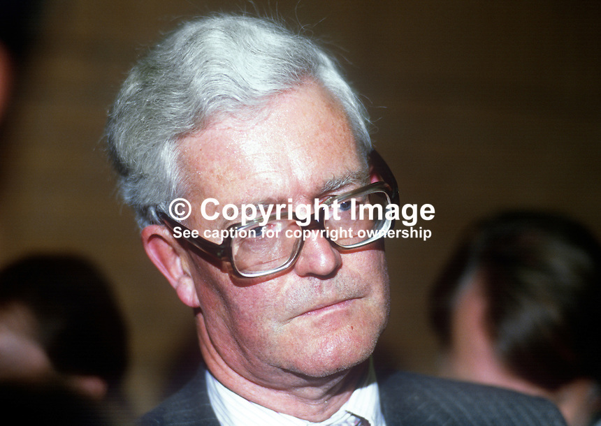 Douglas Hurd, MP, Conservative Party, UK, October 1986, 19861004DH<br />