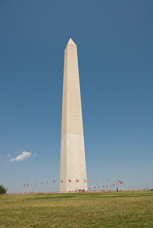 Washington DC USA: The Washington Monument and flags.Photo copyright Lee Foster Photo # 2-washdc82284