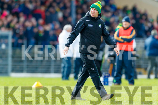 Kerry Manager Peter Keane before the Allianz Football League Division 1 Round 4 match between Kerry and Meath at Fitzgerald Stadium in Killarney, on Sunday.