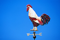 Rooster Cock Weather Vane / Weathervane pointing West / East Direction
