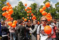 Studenten protest tegen bezuinigingen.