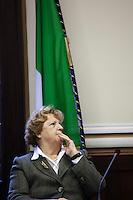 Milano: il Ministro Annamaria Cancellieri arriva in prefettura a Milano per la firma protocollo legalità per gli appalti EXPO..