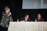 "Joyce Becker of Soap Opera Festivals with Y&R Michael Muhney and Greg Rikaart at Meet & Greet wine tasting event at the Soap Opera Festivals Weekend - ""All About The Drama"" on March 24, 2012 at Bally's Atlantic City, Atlantic City, New Jersey.  (Photo by Sue Coflin/Max Photos)"
