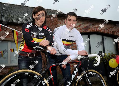 2012-01-11 / Veldrijden / seizoen 2011-2012 / Sanne en Kevin Cant werden beiden Belgisch kampioen..Foto: Mpics.be