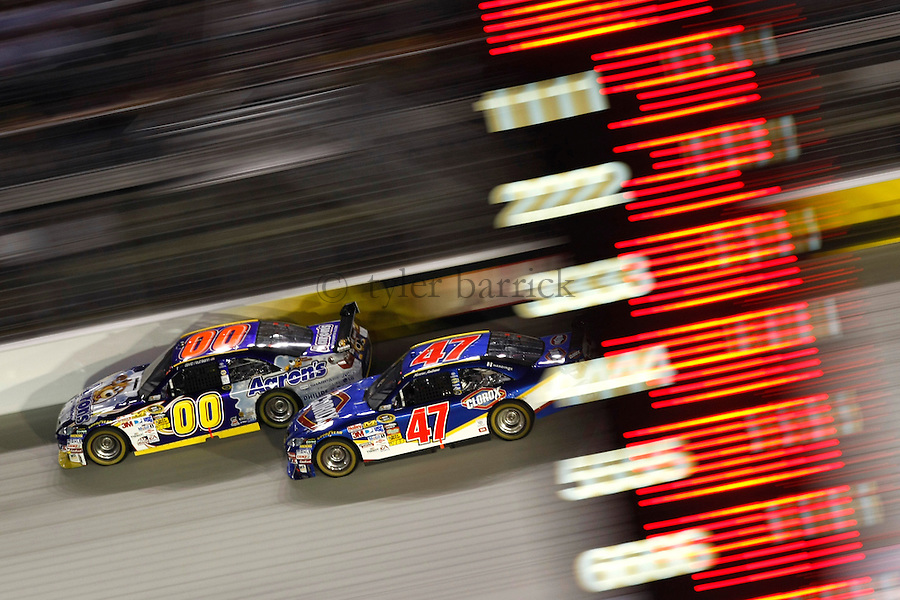 Bristol Motor Speedway.David Reutimann and Marcos Ambrose.© 2009, Tyler Barrick.....
