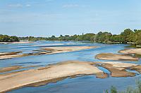 France, Indre-et-Loire (37), Val de Loire classé Patrimoine mondial de l'UNESCO, vers Rigny-Ussé, vue sur la Loire // France, Indre et Loire, Val de Loire listed as World Heritage by UNESCO, to Rigny Usse, view on the Loire