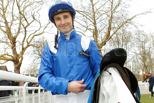 08.03.2016. Deauville, France.  Race 1, Prix de Bacqueville.  Winner Mutarakem with jockey Aurelien Lemaitre