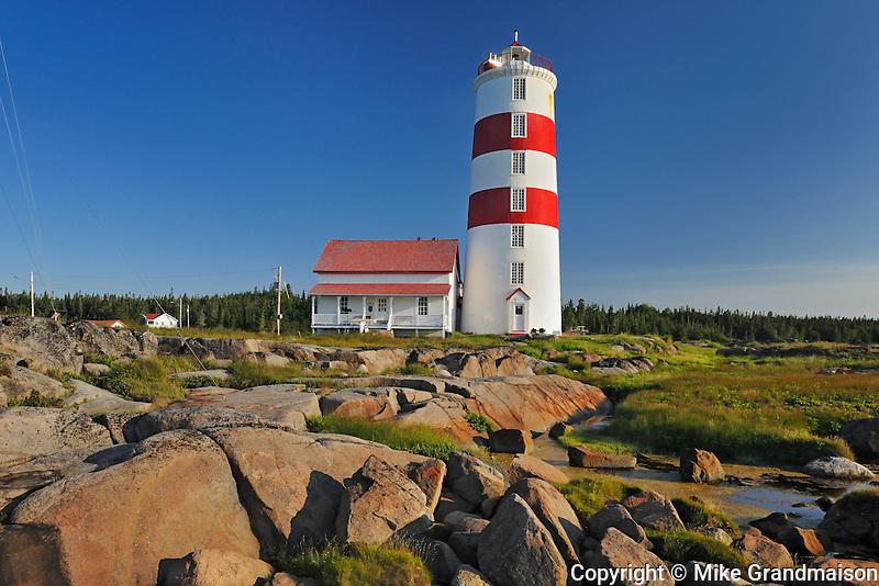 Pointe-des-Monts lighthouse<br /> Municipalit&eacute; de Baie-Trinit&eacute;<br /> Quebec<br /> Canada
