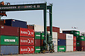 May 23, Tokyo, Japan - A view of a shipping container area at a port in Tokyo. According to the Ministry of Finance Japan report, the country acquired a trade balance of 520.27 billion yen in April, compared with 470.8 billion yen in the previous year. Exports increased 7.9 percent from a year earlier which was below the expected 11.8 increase economists had hoped for. Imports, on the other hand, saw a 8.0 percent increase to 6.087 trillion yen. (Photo by: Christopher Jue/AFLO)
