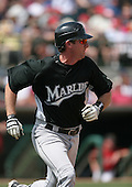 Jason Wood of the Florida Marlins vs. the Houston Astros March 15th, 2007 at Osceola County Stadium in Kissimmee, FL during Spring Training action.  Photo copyright Mike Janes Photography 2007.