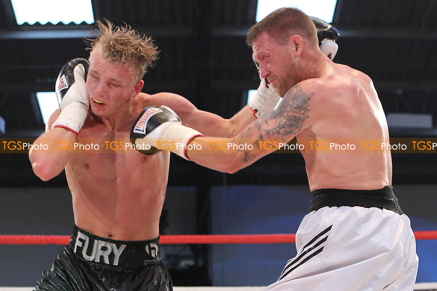 Phil Fury vs Andrew Patterson - 07-07-12 - ClevedonPhill Fury vs Andrew Patterson. in a boxing contest at the Hand Arena, Clevedon, Somerset, promoted by Hennessy Sports - 07/07/12 - MANDATORY CREDIT: Chris Royle/TGSPHOTO - Self billing applies where appropriate - 0845 094 6026 - contact@tgsphoto.co.uk - NO UNPAID USE..