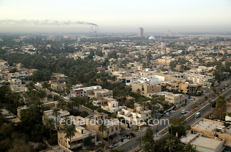 View from the top of Hotel Babylon, Baghdad, Iraq..28.02.04