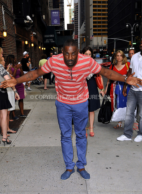 WWW.ACEPIXS.COM<br /> <br /> June 24 2013, New York City<br /> <br /> Idris Elba made an appearance at the Late Show with David Letterman on June 24 2013 in New York City<br /> <br /> By Line: Romeo/ACE Pictures<br /> <br /> <br /> ACE Pictures, Inc.<br /> tel: 646 769 0430<br /> Email: info@acepixs.com<br /> www.acepixs.com