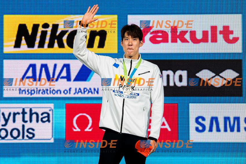 PARK Taehwan KOR Medal Gold<br /> Men's 200m Freestyle<br /> 13th Fina World Swimming Championships 25m <br /> Windsor  Dec. 7th, 2016 - Day02 Finals<br /> WFCU Centre - Windsor Ontario Canada CAN <br /> 20161207 WFCU Centre - Windsor Ontario Canada CAN <br /> Photo &copy; Giorgio Scala/Deepbluemedia/Insidefoto