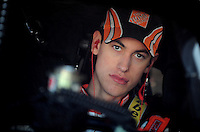 Feb 07, 2009; Daytona Beach, FL, USA; NASCAR Sprint Cup Series driver Joey Logano during practice for the Daytona 500 at Daytona International Speedway. Mandatory Credit: Mark J. Rebilas-