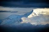 USA, Alaska, Mount Denali and Clouds, Denali National Park